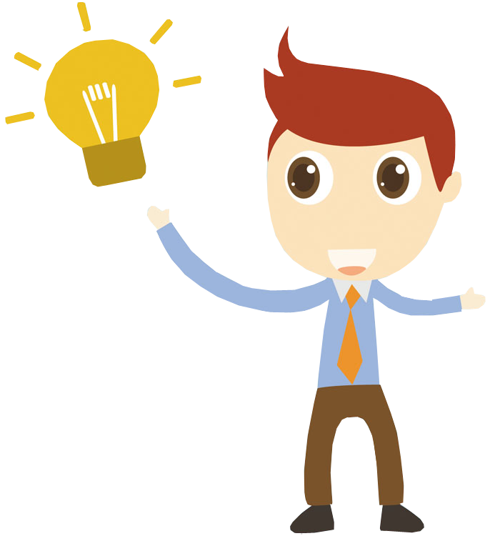 Cartoon businessman with idea | 1designshop