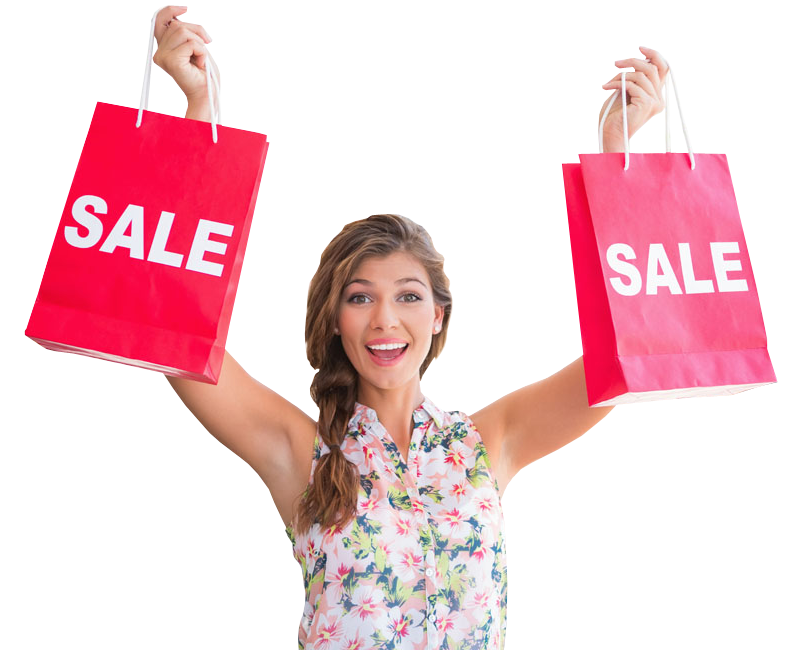 Creative Woman With Shopping Bags Royalty Free Stock Photos  Image 861088