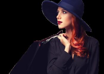 Beautiful fashionable woman shopping