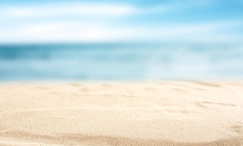 Summer Beach With Blur Sea On Background 1designshop