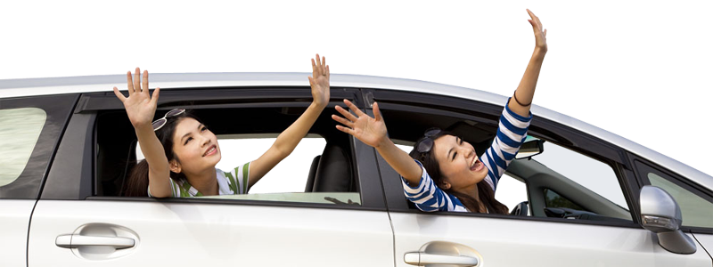 Need A Car >> Happy Woman Raising Hand Out Of Car Window | Free Stock ...