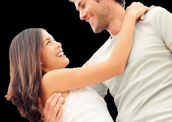 Happy couple on tourism travel