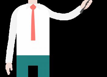 Cartoon Businessman Pointing Presentation