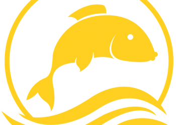 Sea and Jumping fish symbol