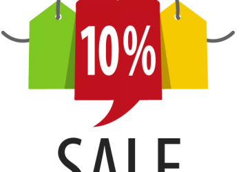 Sale Label with 10 percent discount