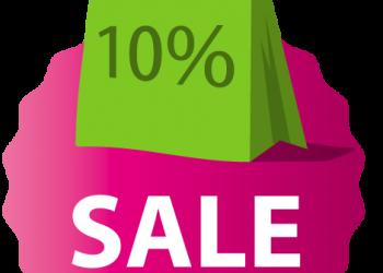Sale 10 percent bag tag