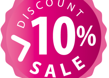 10 percent discount sign icon