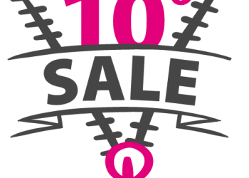 10 Percent Sale Text With Zip Symbol icon