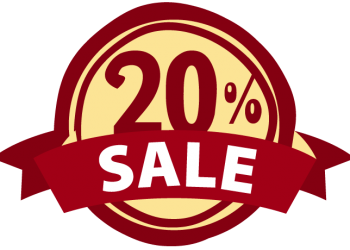 Label With Sale 20 Percent Off Sign