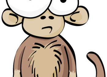 Cartoon funny monkey