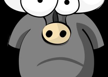 Funny buffalo cartoon