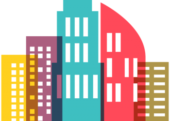 Colorful City Skyline icon