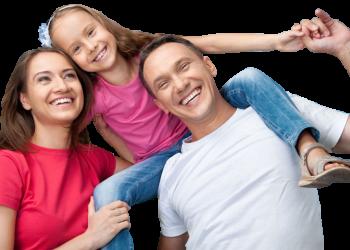 Happy Smiling Family Having Fun