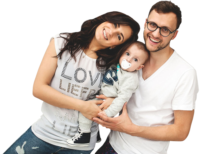 happy family with a baby son 1designshop