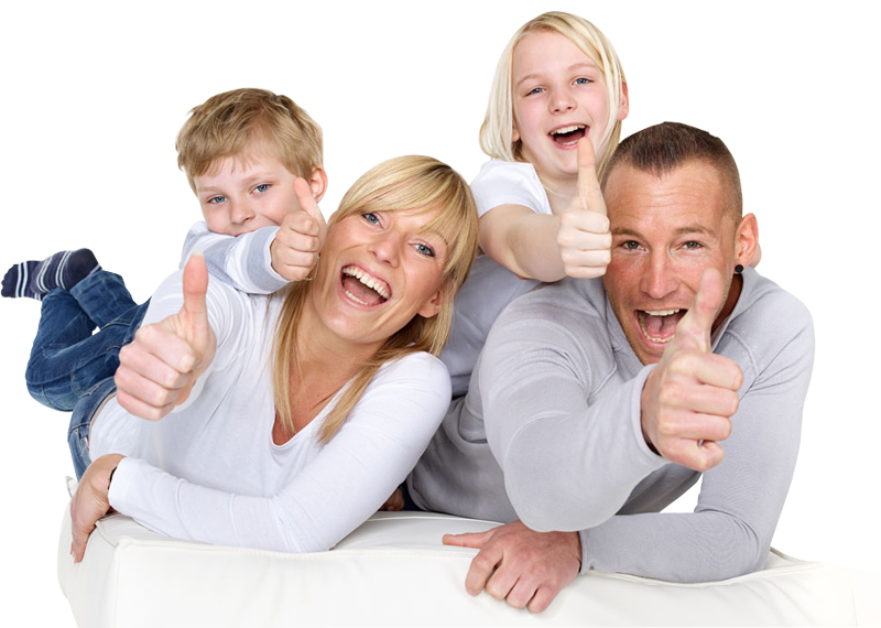 Family showing thumbs up | 1designshop