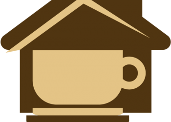 House icon with a coffee cup