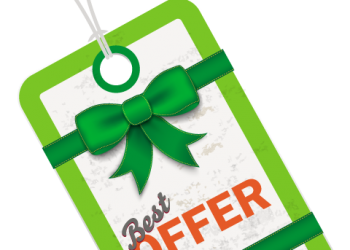 Green Best Offer Hang Tag