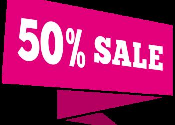 50 percent Off Sale Label