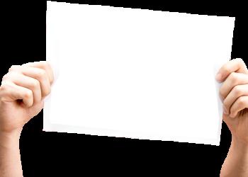 Woman Hand Holding Blank Board
