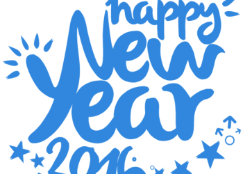 Creative 2016 Happy New Year text design