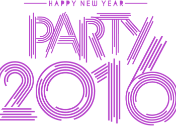 Happy New Year 2016 Party Text Design