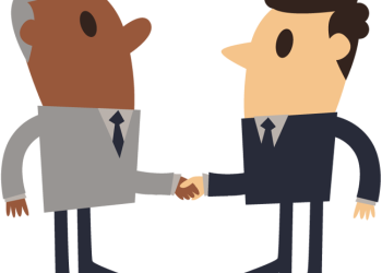 Simple Cartoon Of Businessman Shaking Hands