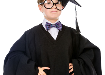 Smart Child in graduate uniform