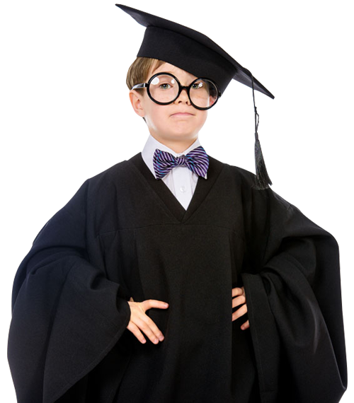 Smart Child In Graduate Uniform Free Stock Photos