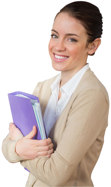 a young female teacher holding a book 1designshop