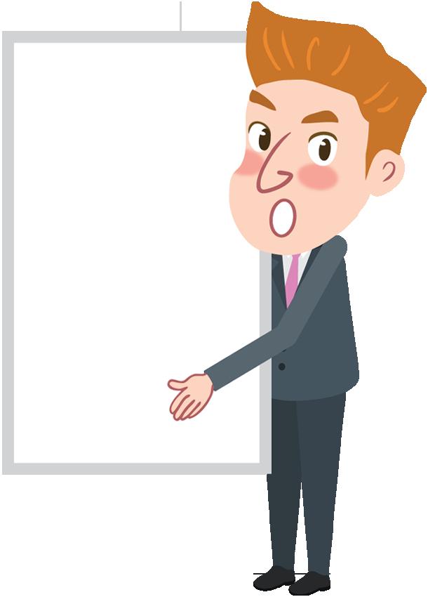 Cartoon Businessman Holding Message Board 1designshop