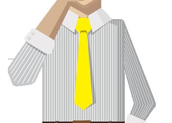 Cartoon businessman thinking