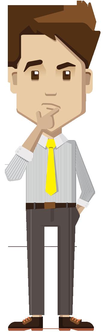 Cartoon businessman thinking | Free Stock Photos – 1designshop