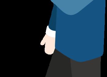 Businessman Hold Megaphone Loudspeaker