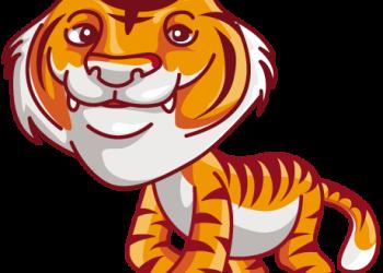 An cartoon proud siberian tiger