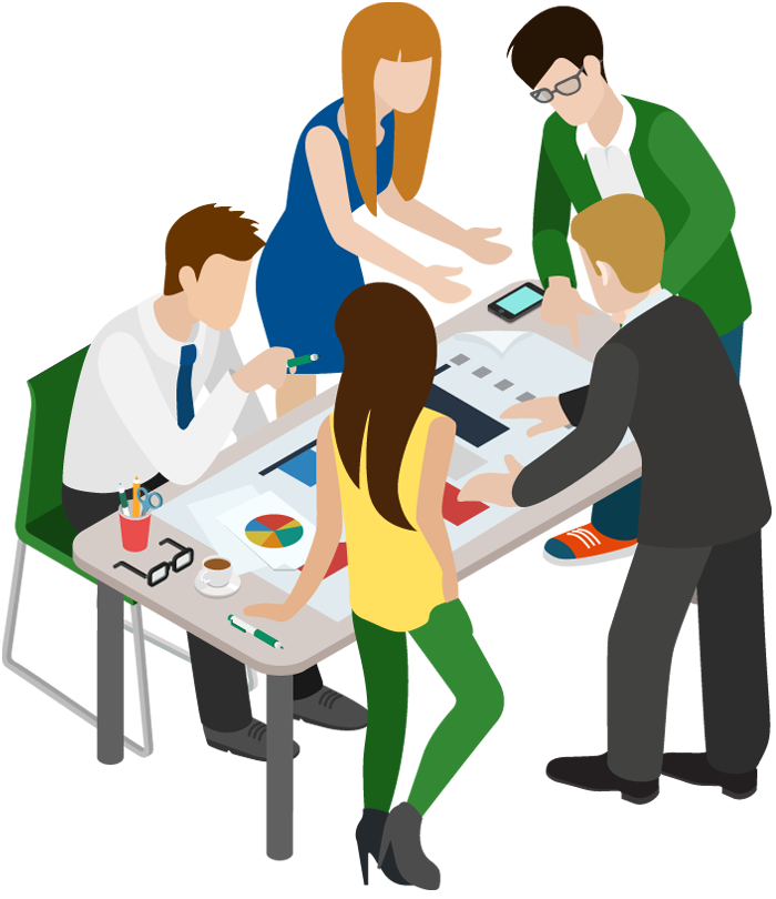 Cartoon Business People Having Meeting 1designshop