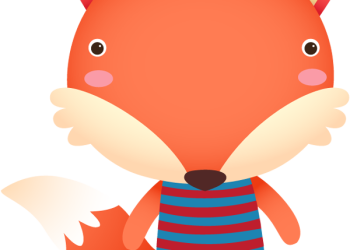 Cartoon cute funny fox