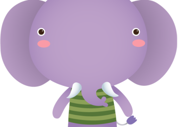 Cute elephant cartoon standing