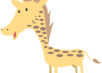 Happy giraffe cartoon