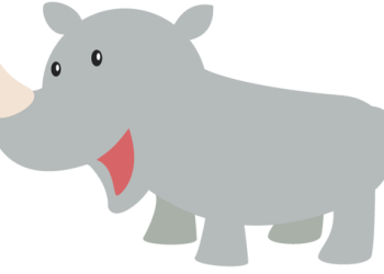 Happy Rhino cartoon