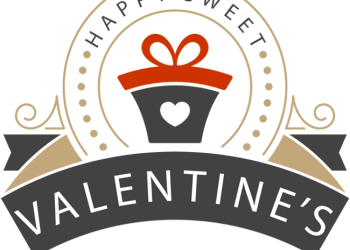 Valentine's Day Symbol design with hearth in gift box