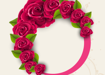 Circle Of Red Roses Frame Background
