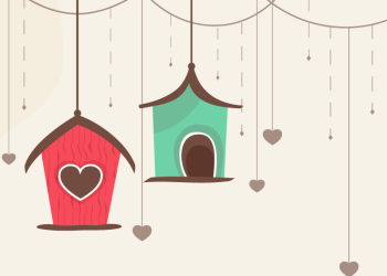 Heart and House hanging background