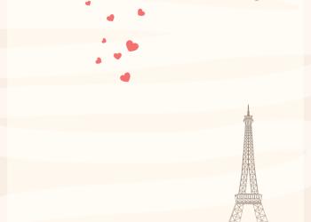 Vintage Valentine Paris Love Background