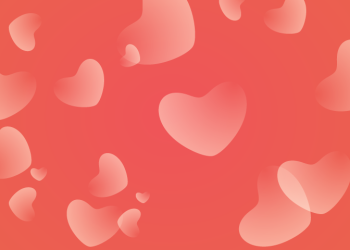 Valentines day Simple Red hearts Background