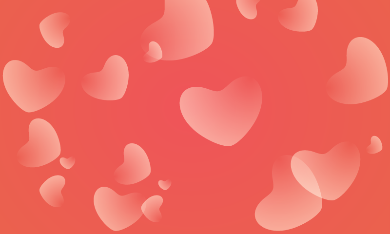 Valentines Day Simple Red Hearts Background 1designshop
