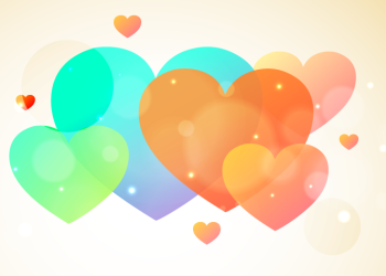 Amazing colorful hearts background