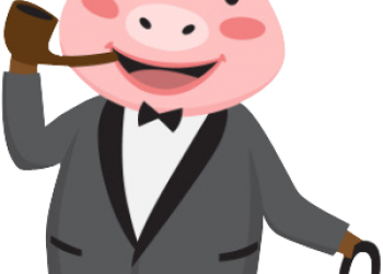 Rich Pig Business Illustration