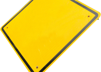 Blank road sign for design