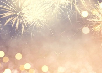 Fireworks in New Year eve background