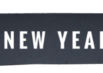 Happy new year 2019 text with transparent background